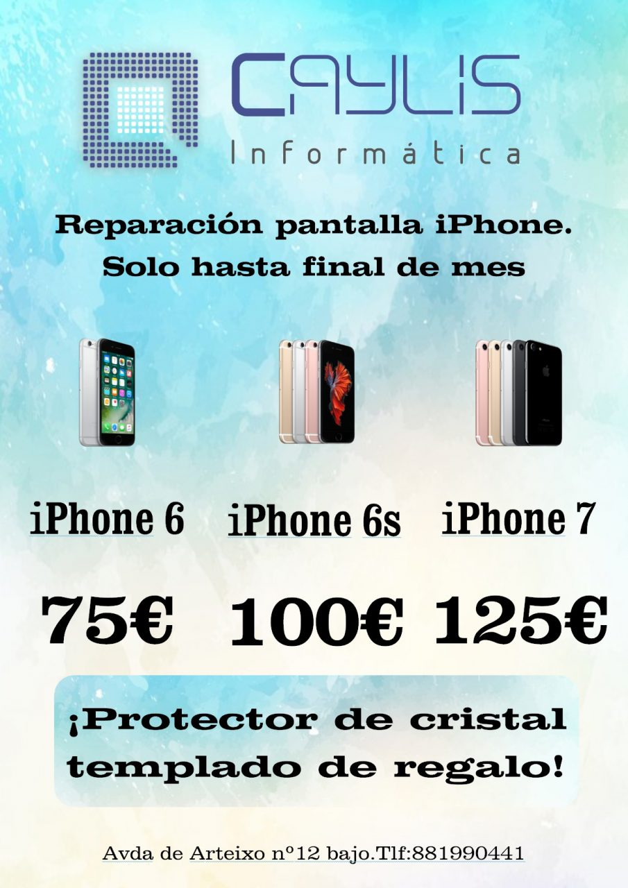 Oferta reparación iPhone
